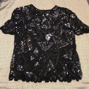 Vintage Sequins Blouse